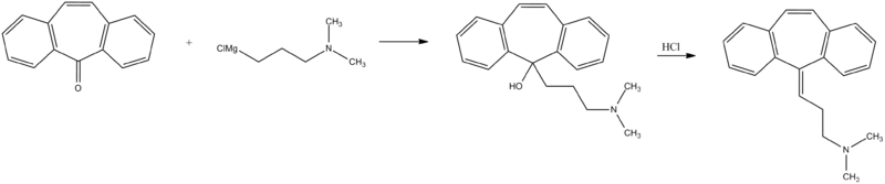 Cyclobenzaprine synthesis.png