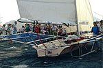 Dériveurs 18 pieds australiens au Salon Nautique International à Flot de La Rochelle 1987 (20).jpg