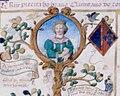 D. Isabel de Avis, Rainha de Castela (1428-1496) - Genealogia de D. Manuel Pereira, 3.º conde da Feira (1534).jpg