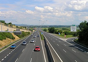 D1 Highway, Prague Chodov.jpg