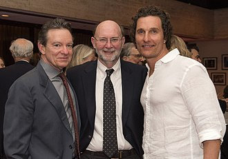 Stephen Harrigan - (L-R) Lawrence Wright, Harrigan and Matthew McConaughey at the LBJ Presidential Library in 2018