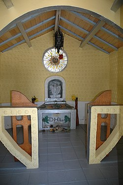 D H Lawrence Ranch-Lawrence Memorial-interior.JPG