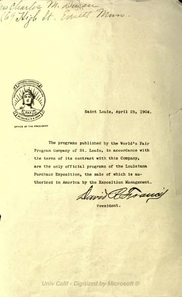 File:Daily Official Program June 16 1904 Louisiana Purchase Exposition.djvu