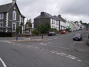 A702 road - The end of the A702 in St John's Town of Dalry.