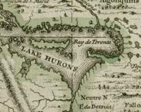 Les Cheneaux Islands Lake Huron Map 1986
