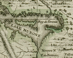 Darlinton map of lake huron 1680.png