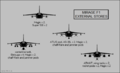 Dassault Mirage F1 silhouettes showing external stores configurations.png