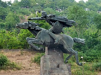 Davit Bek - A monument to Davit Bek in Kapan