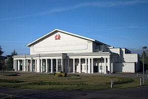 De Montfort Hall - Image: De Montfort Hall oblique view