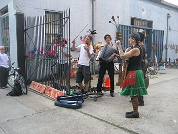 Klezmer band playing on Decatur Street, French...