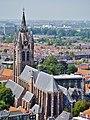 Delft Blick von der Nieuwe Kerk auf die Oude Kerk 5.jpg