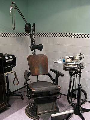 Army Medical Services Museum - Army Dental Surgery, typical of dental surgeries, civil and military, during the 1940s and 1950s.