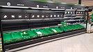Baldas vacías de un supermercado de Cartagena debido a las compras masivas por el confinamiento