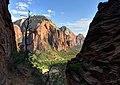 Descending Angel's Landing, Zion National Park, Utah (8363669244).jpg