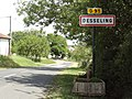 Desseling (Moselle) city limit sign.jpg