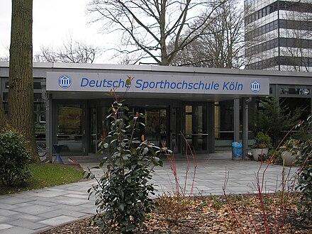 deutsche sporthochschule kln main entrance