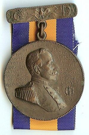 Dewey Medal - Image: Dewey Obverse