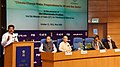Dharmendra Pradhan addressing at the signing ceremony of an MoU between TERI and PetroFed to Plan a Study on Preparedness of Oil & Gas Sector on Climate Change Risks, in New Delhi.jpg