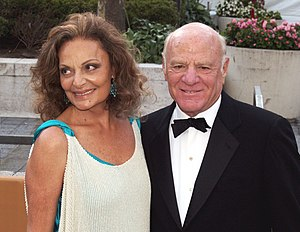 Diane von Furstenberg and Barry Diller at the ...