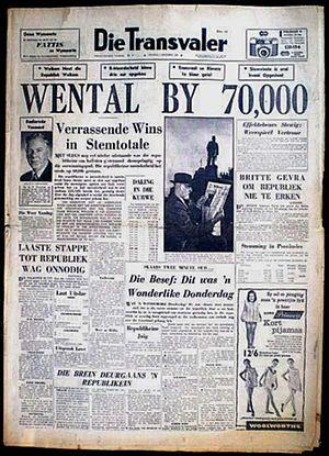 00409d5f4d0 1960 South African republic referendum - Wikipedia