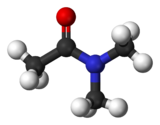 Ball and stick model of dimethylacetamide