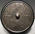 Dinastia tang o periodo nara, specchio con mare e isole, VIII sec 2.JPG