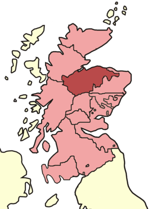 Diocese of Moray - Skene's map of Scottish bishoprics in the reign of David I (reigned 1124–1153).