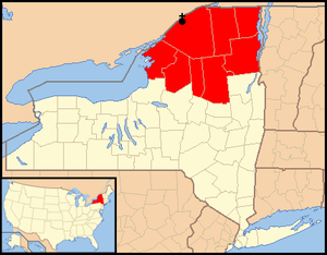Roman Catholic Diocese of Ogdensburg - Image: Diocese of Ogdensburg map 1