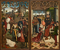 Dirk Bouts - Justice of Emperor Otto III- Beheading of the Innocent Count and Ordeal by Fire - Google Art Project.jpg