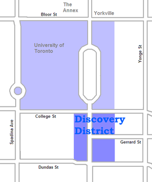 Discovery District - Image: Discovery District map