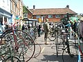 Display of vintage bicycles outside Lloyds TSB - geograph.org.uk - 1251398.jpg