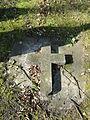 Dobbertin Klosterfriedhof Grab Emma von Plessen, aufgelegt Grabkreuz Amalie von Wickede Reihe 7 Platz 10 2012-03-23 081.jpg