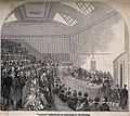 Doctors receiving their degrees in a degree ceremony, Edinbu Wellcome V0012573.jpg