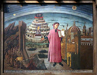 Domenico di michelino, Dante con in mano la Divina Commedia, 1465, 01.JPG