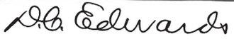 Don C. Edwards - Image: Don Calvin Edwards sig