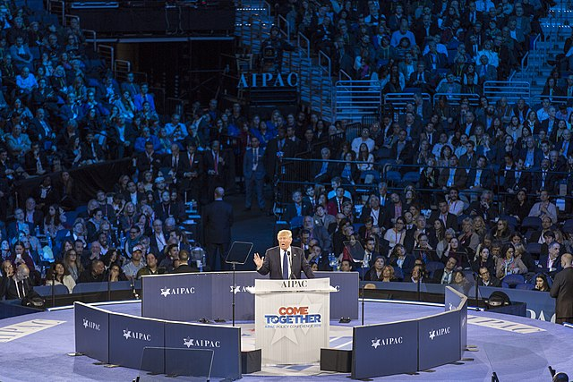 Donald Trump speaking at AIPAC, From WikimediaPhotos