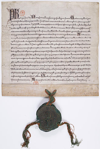Philip IV of France - Donation made by the King of France, Philip IV the Fair, to the chaplains and wardens of the Sainte-Chapelle in Paris. February 1286