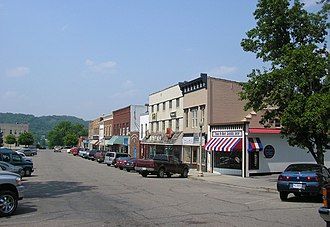 Carrollton, Kentucky - Downtown Carrollton with Ohio River valley in background