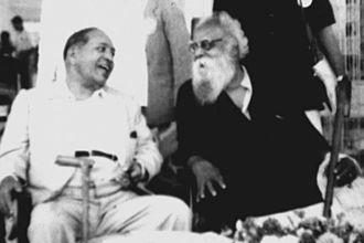 Periyar E. V. Ramasamy - B.R. Ambedkar with Periyar.