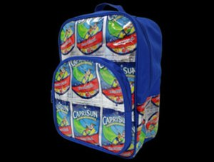 TerraCycle - A TerraCycle backpack made from Capri Sun juice pouches.