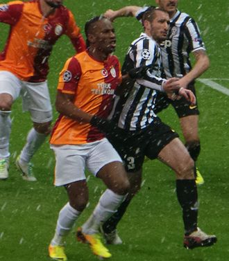 Giorgio Chiellini - Chiellini (right) and Didier Drogba of Galatasaray playing against each other in the Champions League in 2013.