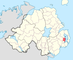 Location of Dufferin, County Down, Northern Ireland.