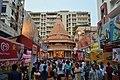 Durga Puja Pandal with Spectators - Singhi Park - Ramani Chatterjee Road - Kolkata 2014-10-02 8995.JPG