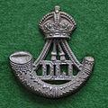 Durham Light Infantry cap badge (King's Crown, plastic).jpg