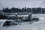 Dutch submarine K12 on Fairlight Beach in 1949.JPG