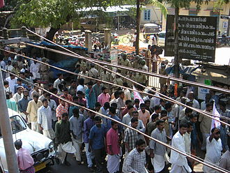 Unemployment - Demonstration against unemployment in Kerala, South India, India on 27 January 2004