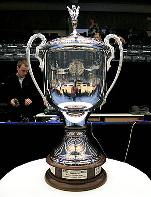 English: former EHF Champions League Trophy Da...