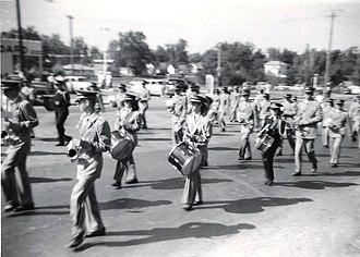 Edinburg, Illinois - Image: EHS Band 1960