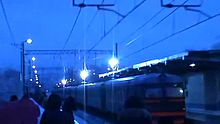 File:ER2R with electric arcs after catenary icing.webm