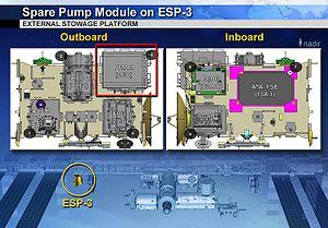External stowage platform - ESP-3 ORU locations ISS Exp 38